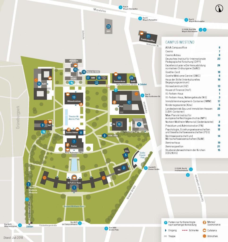 Lageplan Campus Westend eingebettet