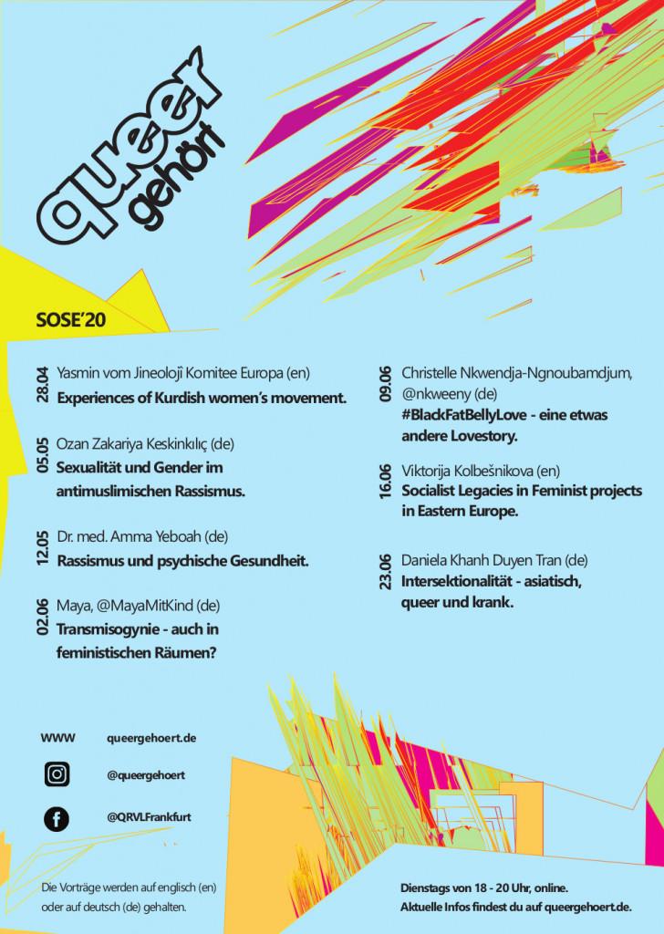 queergehört Plakat für SoSe 2020