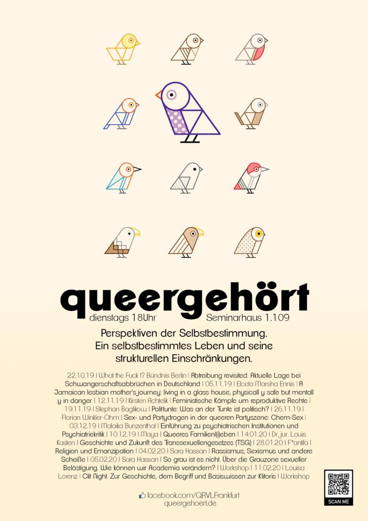 Plakat der Queeren Ringvorlesung für das Wintersemester 2019